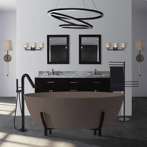 Additional image for Essex ColourKast Bath With Stand 1510mm (Mushroom).