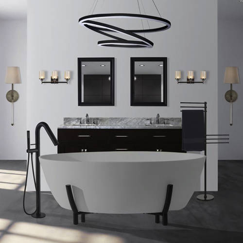 Additional image for Essex ColourKast Bath With Stand 1510mm (Powder Grey).