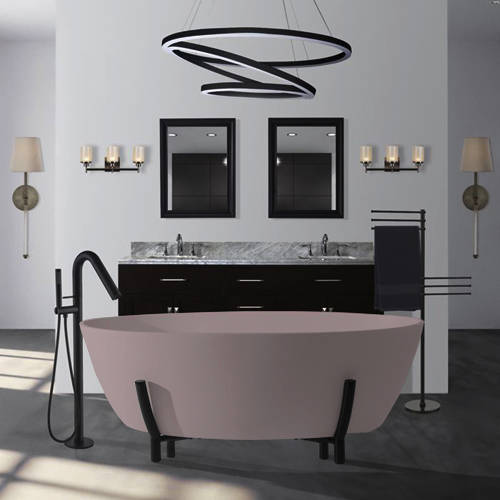 Additional image for Essex ColourKast Bath With Stand 1510mm (Satin Rose).