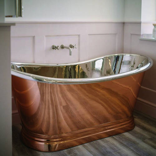 Additional image for Copper & Nickel Boat Bath 1700mm (Nickel Inner/Copper Outer).