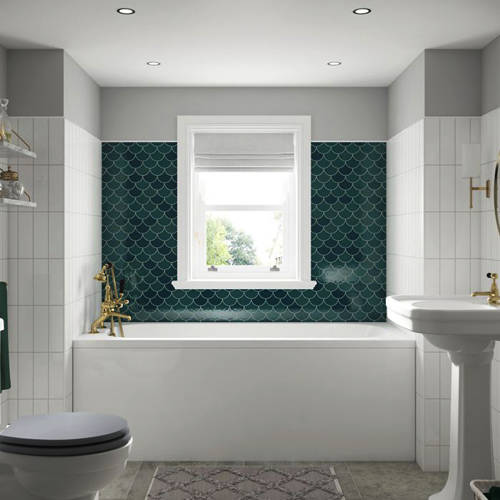Additional image for Modica Single Ended Bath With Front Panel 1800x800mm (White).