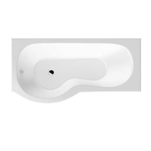 Additional image for SolidBlue P-Shaped Shower Bath With Panels & Screen 1500 (LH).