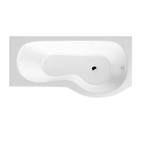 Additional image for SolidBlue P-Shaped Shower Bath With Panels & Screen 1500 (RH).