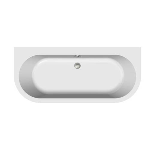 Additional image for Monreale Back To Wall Bath With Panel 1700x750mm (White).