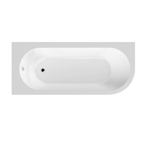 Additional image for Amerina Corner Bath With Panel 1700mm (LH, White).