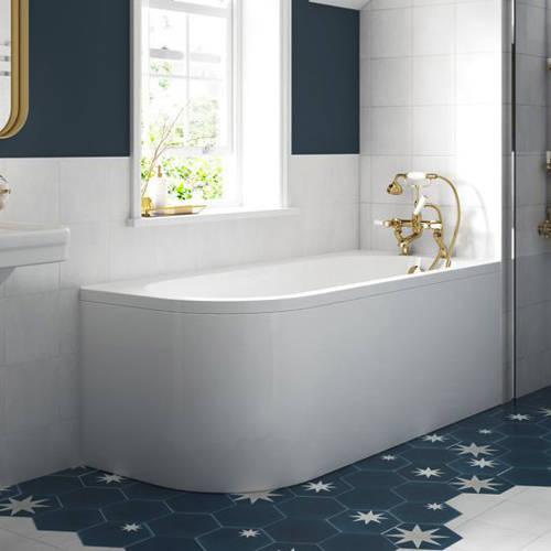 Additional image for Amerina Corner Bath With Panel 1700mm (RH, White).