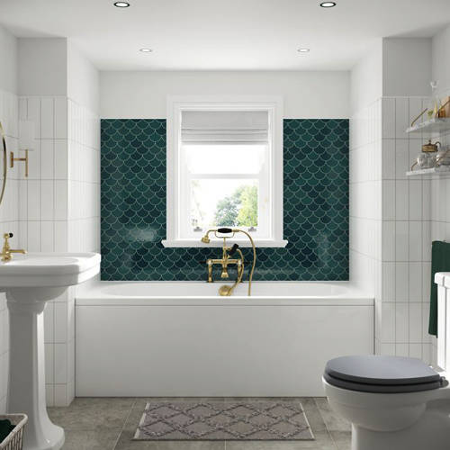 Additional image for Lambert Double Ended Bath With Panel 1800x800mm (White).
