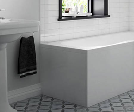 Additional image for SolidBlue Reinforced End Bath Panel 800x560mm (White).