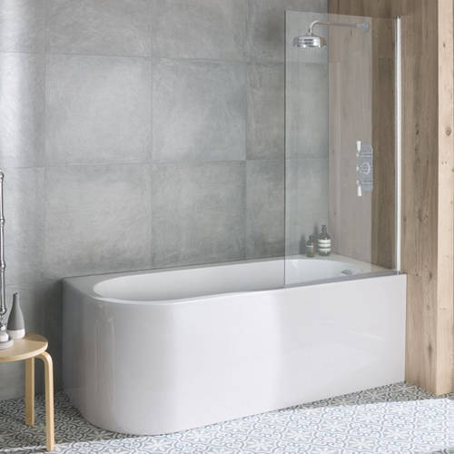 Additional image for Ancorner Shower Bath 1700mm (Right Handed, Gloss White).