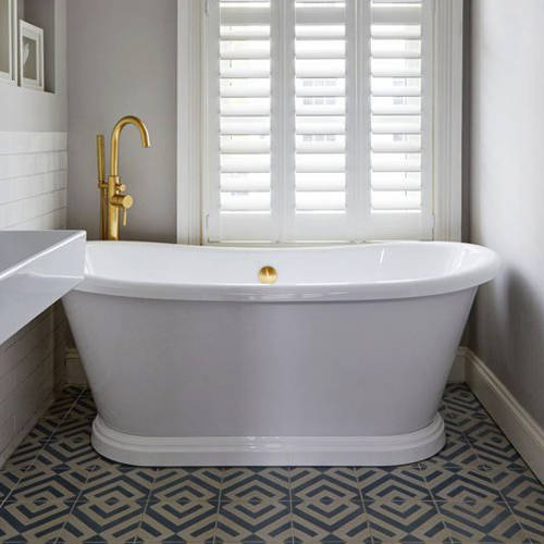 Additional image for Acrylic Boat Bath 1580mm (Gloss White).