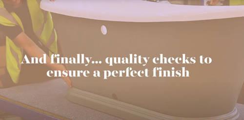 Additional image for Painted Acrylic Boat Bath 1580mm (White & Orange Aurora).