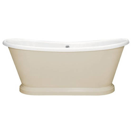 Additional image for Painted Acrylic Boat Bath 1580mm (White & Elephants Breath).