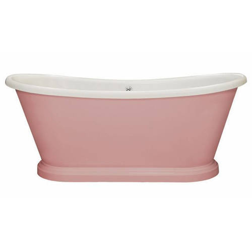 Additional image for Painted Acrylic Boat Bath 1580mm (White & Middleton Pink).