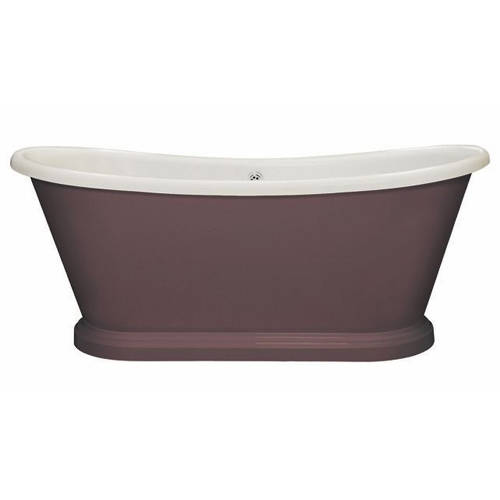 Additional image for Painted Acrylic Boat Bath 1580mm (White & Pelt).