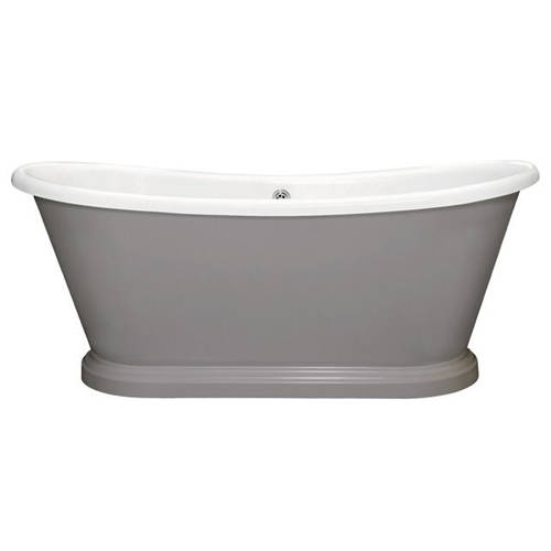 Additional image for Painted Acrylic Boat Bath 1580mm (White & Mole`s Breath).