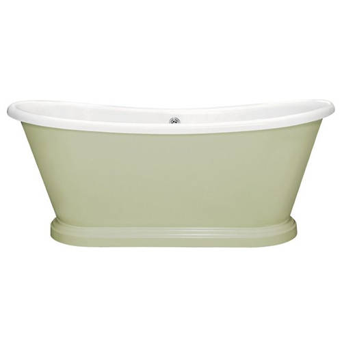 Additional image for Painted Acrylic Boat Bath 1580mm (White & Mizzle).
