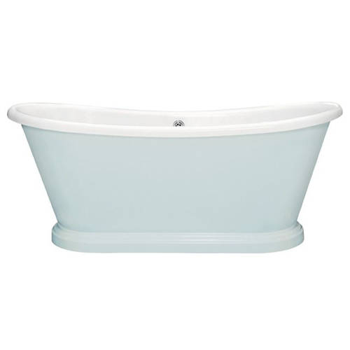 Additional image for Painted Acrylic Boat Bath 1580mm (White & Parma Grey).