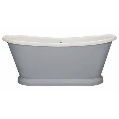 Additional image for Painted Acrylic Boat Bath 1580mm (White & Plummett).