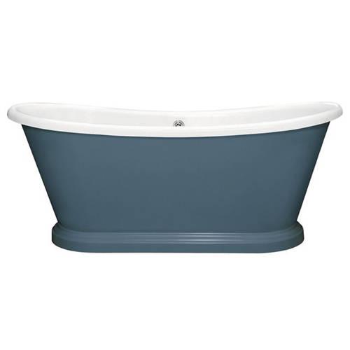 Additional image for Painted Acrylic Boat Bath 1580mm (White & Stiffkey Blue).