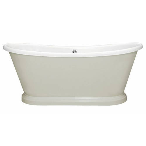 Additional image for Painted Acrylic Boat Bath 1580mm (White & Cromarty).