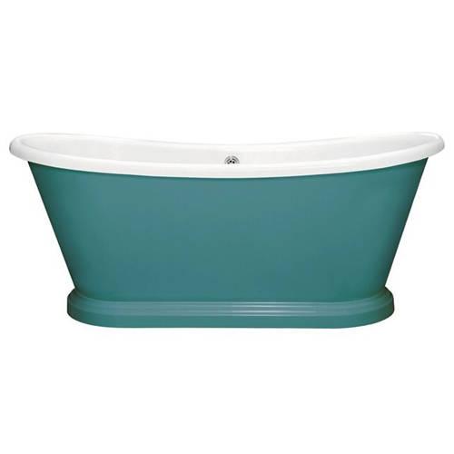 Additional image for Painted Acrylic Boat Bath 1580mm (White & Vardo).