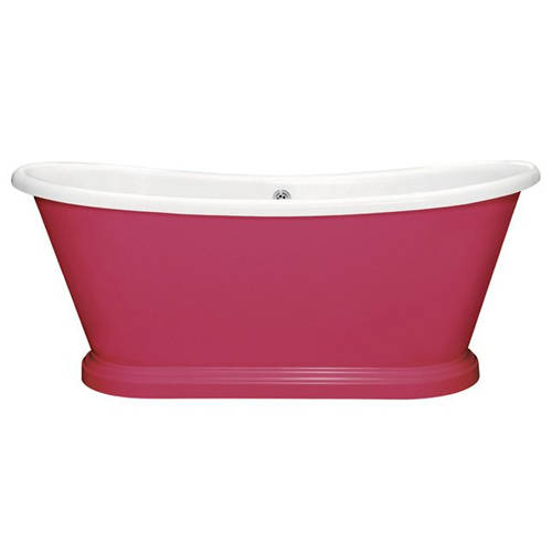 Additional image for Painted Acrylic Boat Bath 1700mm (White & Mischief).