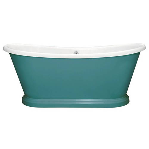 Additional image for Painted Acrylic Boat Bath 1700mm (White & Vardo).