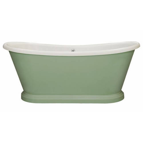 Additional image for Painted Acrylic Boat Bath 1700 (Wh & Breakfast Room Green).