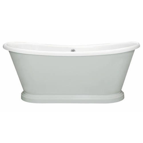 Additional image for Painted Acrylic Boat Bath 1800mm (White & Skylight).