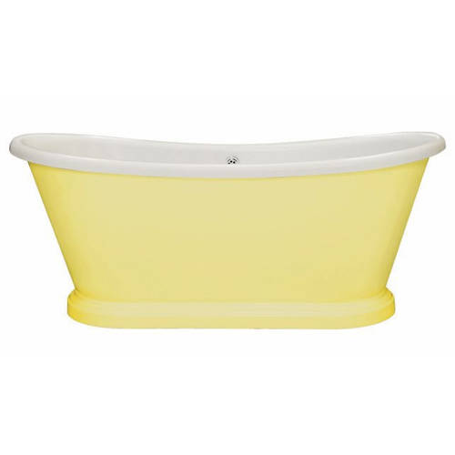 Additional image for Painted Acrylic Boat Bath 1800mm (White & Dayroom Yellow).