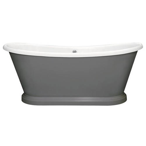 Additional image for Painted Acrylic Boat Bath 1800mm (White & Downpipe).