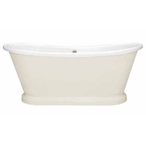 Additional image for Painted Acrylic Boat Bath 1800mm (White & Ammonite).