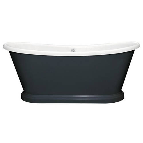 Additional image for Painted Acrylic Boat Bath 1800mm (White & Hague Blue).