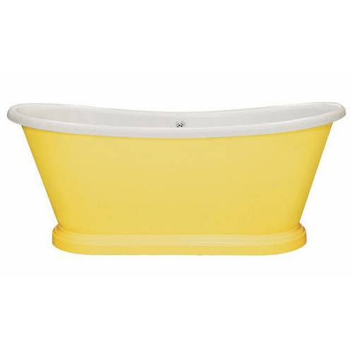 Additional image for Painted Acrylic Boat Bath 1800mm (White & Citron).