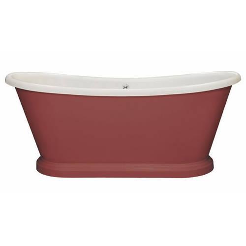 Additional image for Painted Acrylic Boat Bath 1800mm (White & Radicchio).