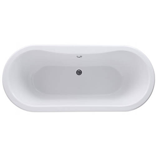 Additional image for Elmstead Double Ended Bath 1500mm With Feet Set 1 (White).
