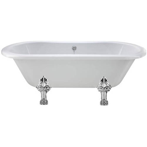 Additional image for Elmstead Double Ended Bath 1700mm With Feet Set 2 (White).
