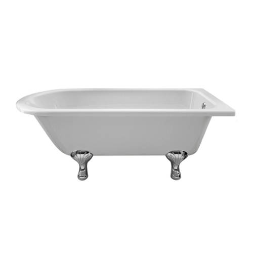 Additional image for Tye Shower Bath 1500mm With Feet Set 1 (White).