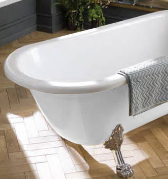 Additional image for Tye Shower Bath 1500mm With Feet Set 2 (White).