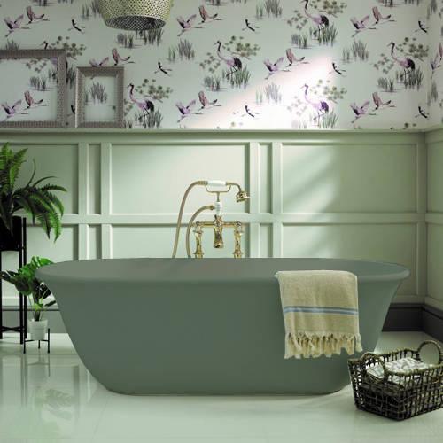 Additional image for Omnia ColourKast Bath 1615mm (Khaki Green).