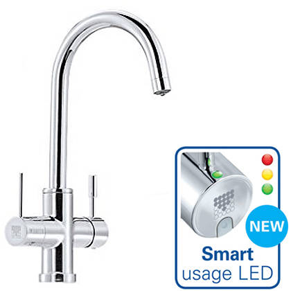 Additional image for Talori 3 In 1 Filter Kitchen Tap With LED Lights (Chrome).