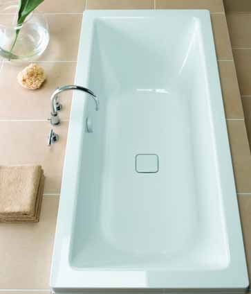 Additional image for Cono Duo Designer Steel Bath. No Tap Hole. 1700x750mm.