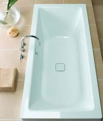 Additional image for Cono Duo Designer Steel Bath. No Tap Hole. 1800x800mm.