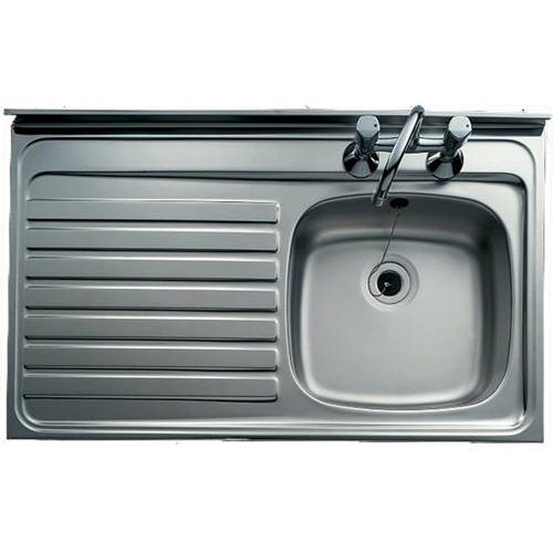 Additional image for Lay-On Kitchen Sink With Left Hand Drainer 1000x500mm.