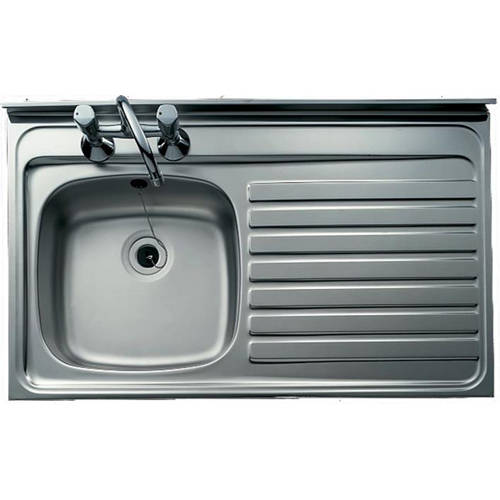 Additional image for Lay-On Kitchen Sink With Right Hand Drainer 1000x500mm.