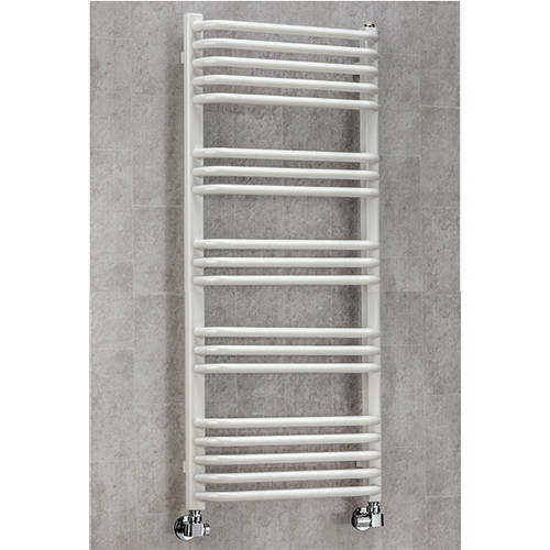 Additional image for Heated Towel Rail & Wall Brackets 1100x500 (White).