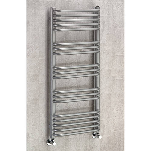 Additional image for Heated Towel Rail & Wall Brackets 1100x500 (Grey Aluminium).