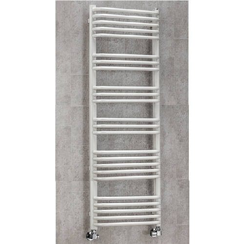 Additional image for Heated Towel Rail & Wall Brackets 1300x500 (White).
