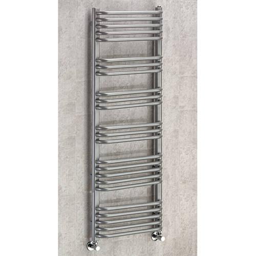 Additional image for Heated Towel Rail & Wall Brackets 1300x500 (Grey Aluminium).