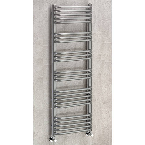 Additional image for Heated Towel Rail & Wall Brackets 1300x600 (Grey Aluminium).